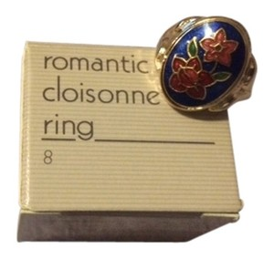 Avon Vintage Avon Romantic Cloisonne Ring Size 8 New in Box