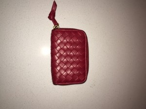 Bottega Veneta Wristlet in Red
