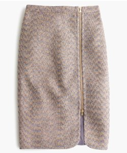 J.Crew Zipper Pencil Wool Skirt