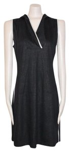 Tahari short dress BLACK Hooded Sporty on Tradesy