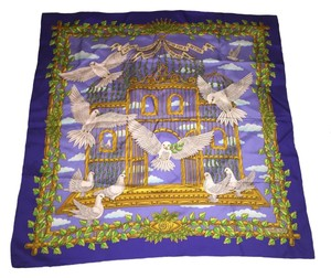 Hermès Hermes Silk Scarf-United Nation Peace+Doves Collection 50th Ann.