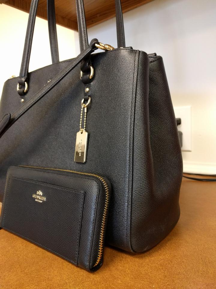 c9c7dc44f3f4 Coach Stanton Carryall W Matching Wallet F52648 37148 Black ...