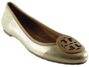 Tory Burch Luisa Metallic Platinum / Blond Flats