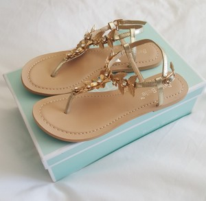 Bhldn Wedding Sandals Grecian Bohemian Flower Wedding Shoes