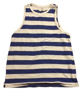 Madewell Top Blue and white stripped