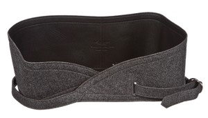 Yves Saint Laurent Yves Saint Laurent Gray Flannel Leather Adjustable Belt (Size S) NEW