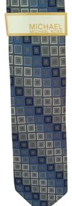Michael Kors MICHAEL Michael Kors Grey Square Tapered Silk Slim Tie New With Tag