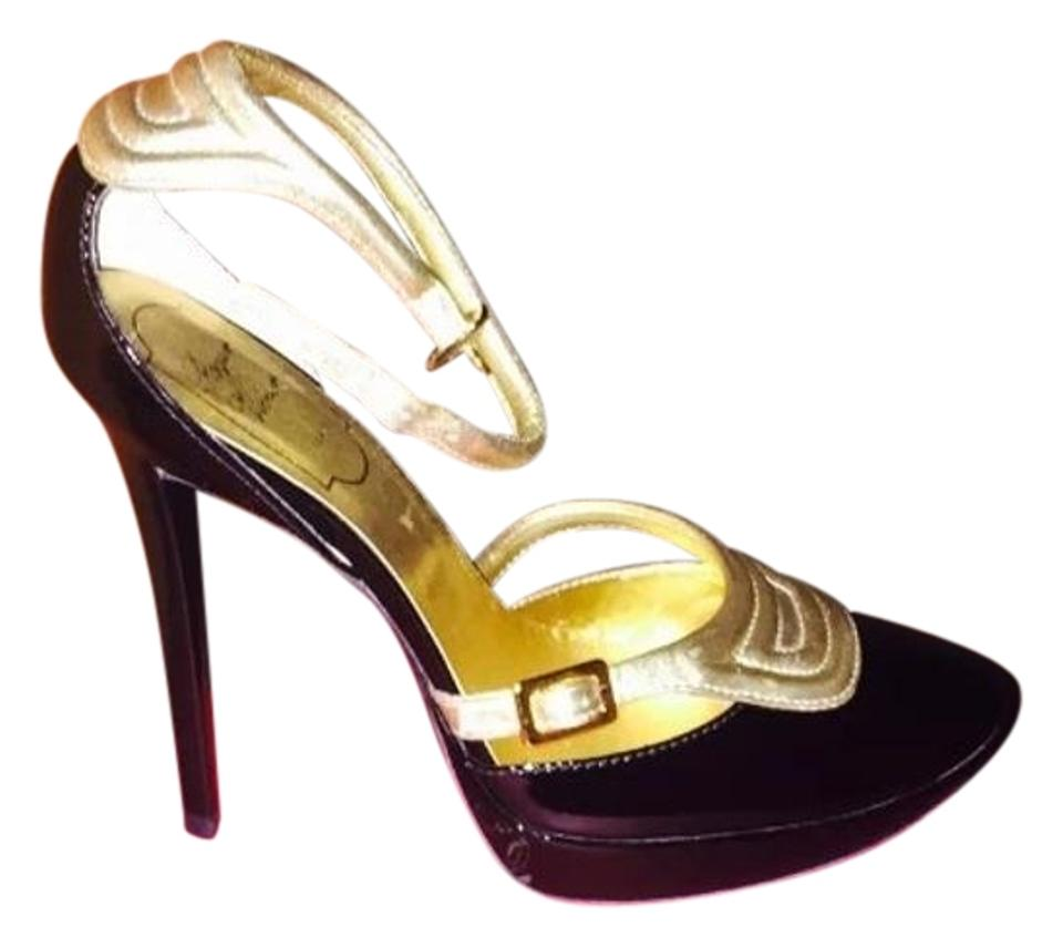 Roger Vivier Black and Gold Gold and Platforms df97da