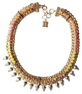 BCBGMAXAZRIA Big statement stone chain necklace