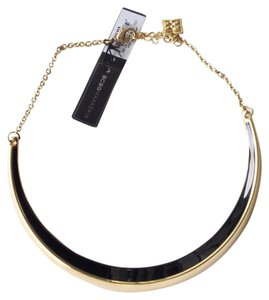 BCBGMAXAZRIA statement chain black crescent necklace