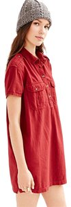 BDG short dress Red Urban Outfitters Utility on Tradesy