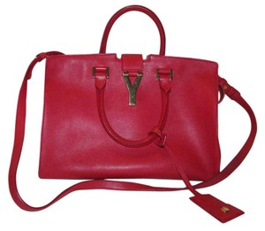 Saint Laurent Ysl Ysl Cabas Satchel in Red