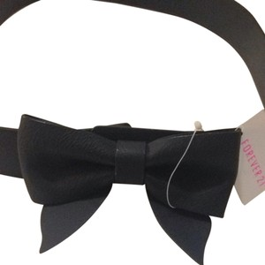 Forever 21 Forever 21 Black Bow Belt M/L