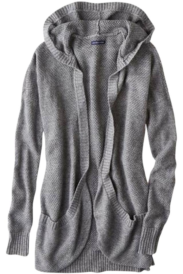 American Eagle Outfitters Aeo Open Hooded Cardigan Gray Sweater 69% off  retail