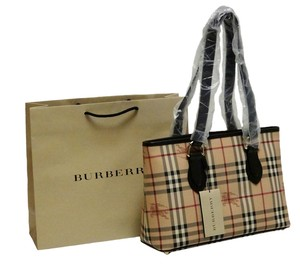 b2c2722bd2 Burberry Pvc Leather; Guaranteed Your Money Back Tote in Classic Check/Choco