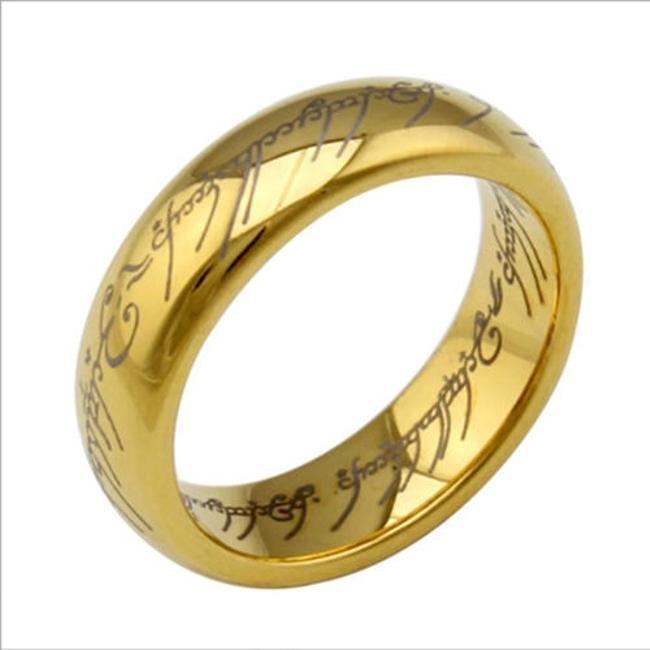 Item - Gold Lord Of The Rings Titanium Steel Free Shipping Men's Wedding Band