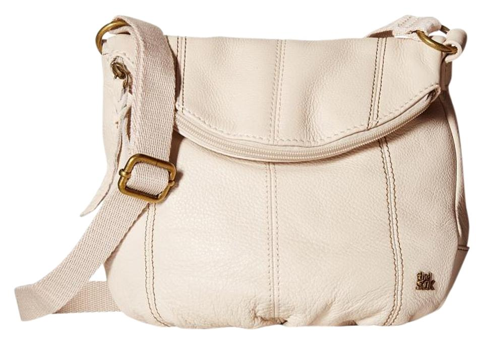d7b830fd8c1a The Sak Deena Flap Crossbody Cream Leather Mix Shoulder Bag - Tradesy