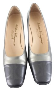 Salvatore Ferragamo Silver & Grey Formal