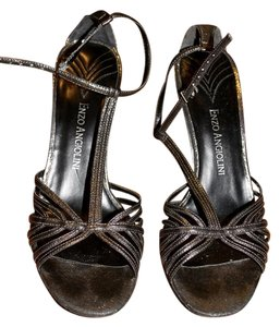 Enzo Angiolini Metallic/Gunmetal Sandals