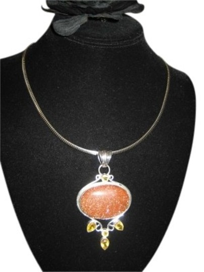 Preload https://item2.tradesy.com/images/sterling-silver-pendant-with-gem-stones-153421-0-0.jpg?width=440&height=440