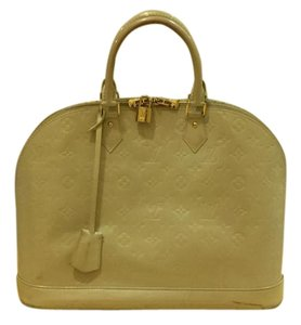 Louis Vuitton Vernis Leather Tote in Beige