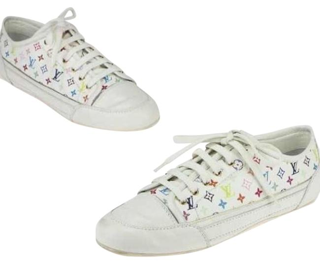 Item - White and Multi Sneakers Size US 6 Regular (M, B)