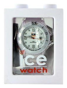 Ice Ice-Watch Unisex SI.WE.U.S.09 Sili Collection White Plastic and Silicone Watch 42mm