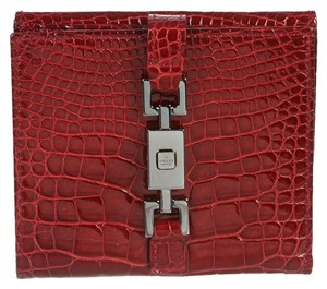 Gucci Gucci Red Crocodile Jackie O Wallet