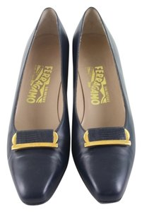 Salvatore Ferragamo Navy Blue Formal