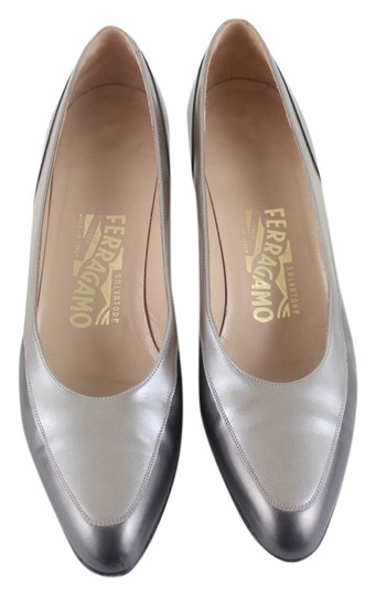 Salvatore Ferragamo Pewter and Silver Formal