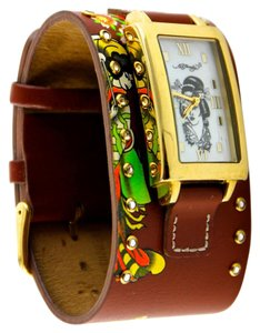 Ed Hardy Ed Hardy Women's Brown Siren Leather Cuff Watch