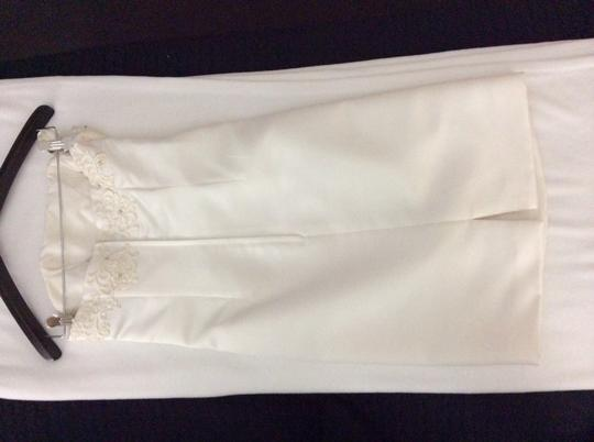 Off- White Silk/ Beading/ Lace Formal Bridesmaid/Mob Dress Size 6 (S) Image 1