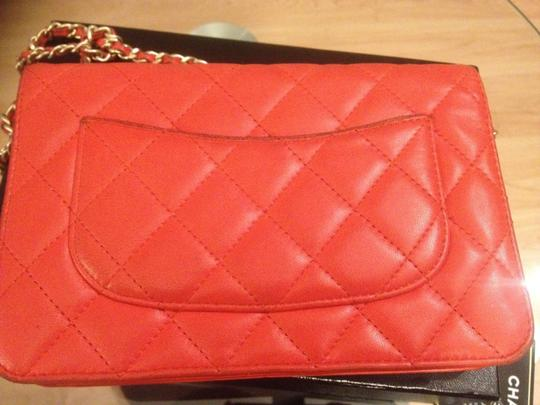 Chanel Lambskin Quilted Wallet On Chain Woc In Vuitton Prada Gucci Burberry Tory Burch Kors Cross Body Bag
