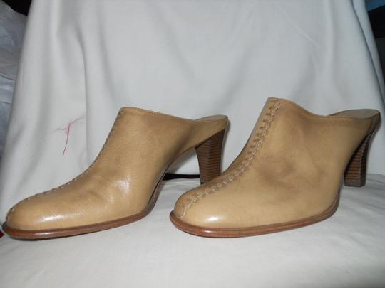 Antonio Melani Leather tan Mules Image 1