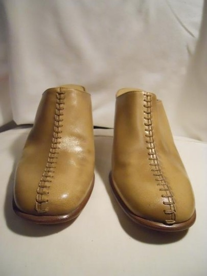 Antonio Melani Leather tan Mules Image 2