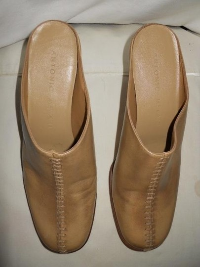 Antonio Melani Leather tan Mules