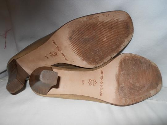 Antonio Melani Leather tan Mules Image 5