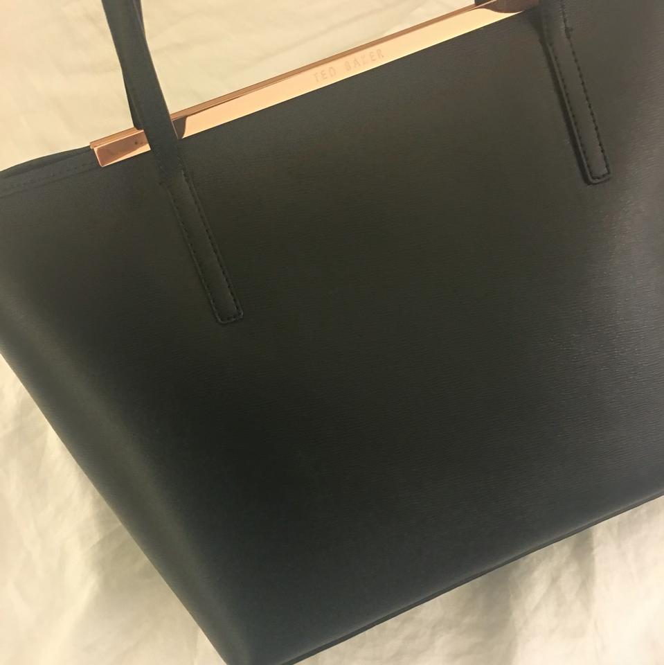 e231668143 Ted Baker Noelle Black Saffiano Leather Tote - Tradesy