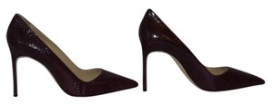 Manolo Blahnik Brand New In Box BURGUNDY Pumps