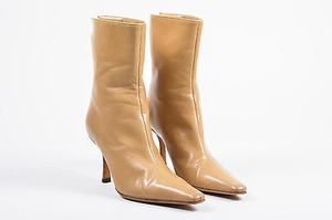 Jimmy Choo Nude Leather Tan Boots