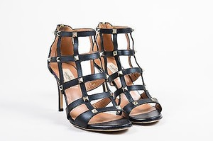 Valentino Leather Gold Black Sandals