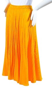 Vintage Andre Laug Pleated Skirt Yellow