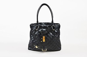 Marc Jacobs Quilted Leather Gold Casey Tote in Black
