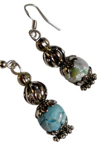 Other New Stone Earrings Silver Tone Blue J2534 Summersale