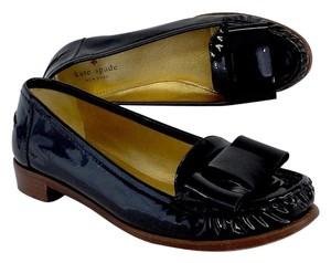 Kate Spade Black Patent Leather Loafers Formal