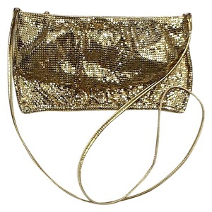 Whiting & Davis Gold Mesh Cross Body Bag