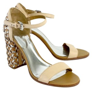 Coach Nude Leather Terri Heels Sandals