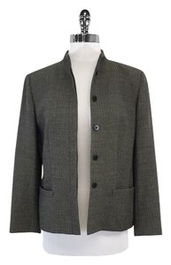 Giorgio Armani Brown Wool Chevron Print Jacket