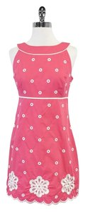 Lilly Pulitzer short dress Hot Pink White Sleeveless on Tradesy