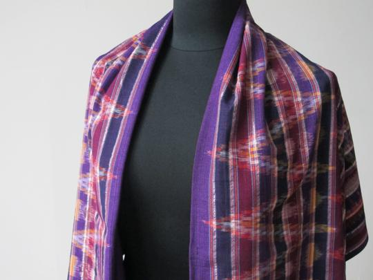 Handmade Colorful Modern Ikat Patterned Shawl/Wrap Image 1